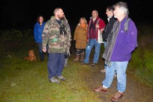 Dawn Chorus Stev Hinton, Senior Ranger welcomes members of the group, WEB keith woolford7-5-17