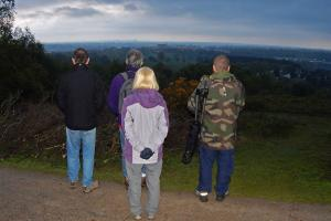 Dawn Chorus on Bilberry Hill looking east towards Birminghm, WEB keith woolford 7-5-17