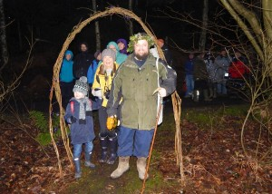 Wassail 2016, thru' the arch 16-1-16